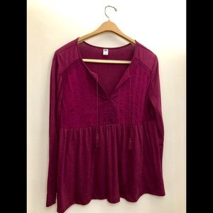 PLUM TOP FROM OLD NAVY!!